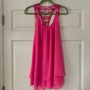 In Bloom by Jonquil Pink Chemise Nighty Sz Sm
